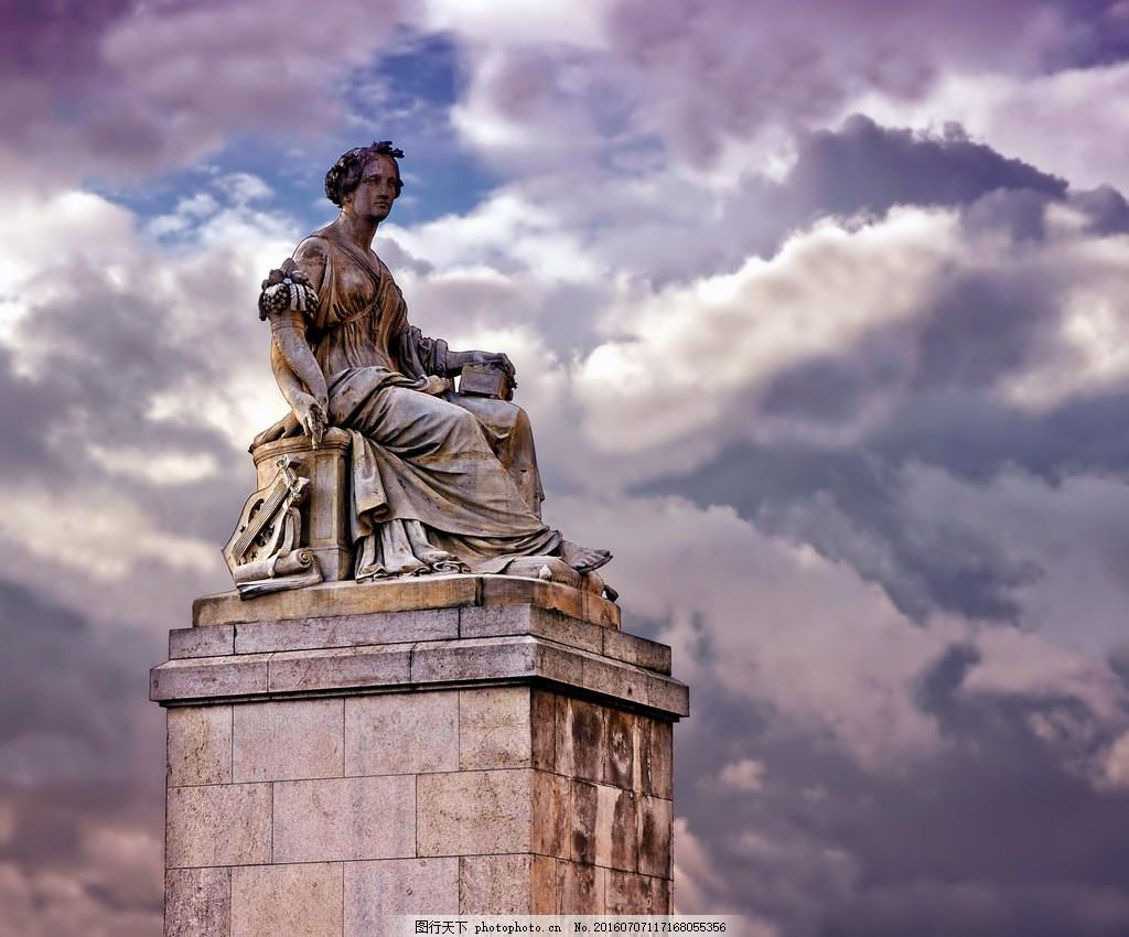 高清西方人物雕像素材下载 雕像 法国雕塑 法国 巴黎 雕塑