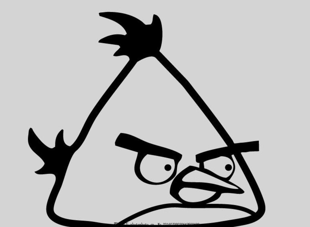 鸟线稿矢量图 愤怒的小鸟 小饰品 小动物 小鸟 可爱小卡通 设计 动画