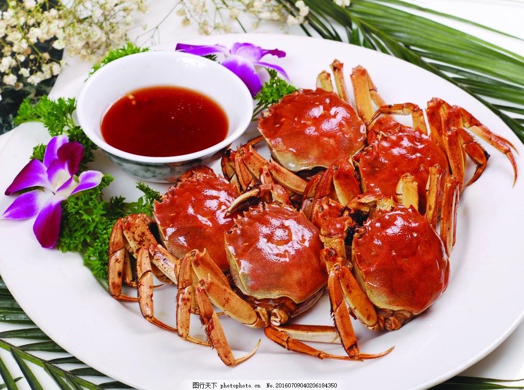 螃蟹 螃蟹图片 清蒸花蟹 清蒸螃蟹 海鲜图片 海鲜菜谱图片 摄影