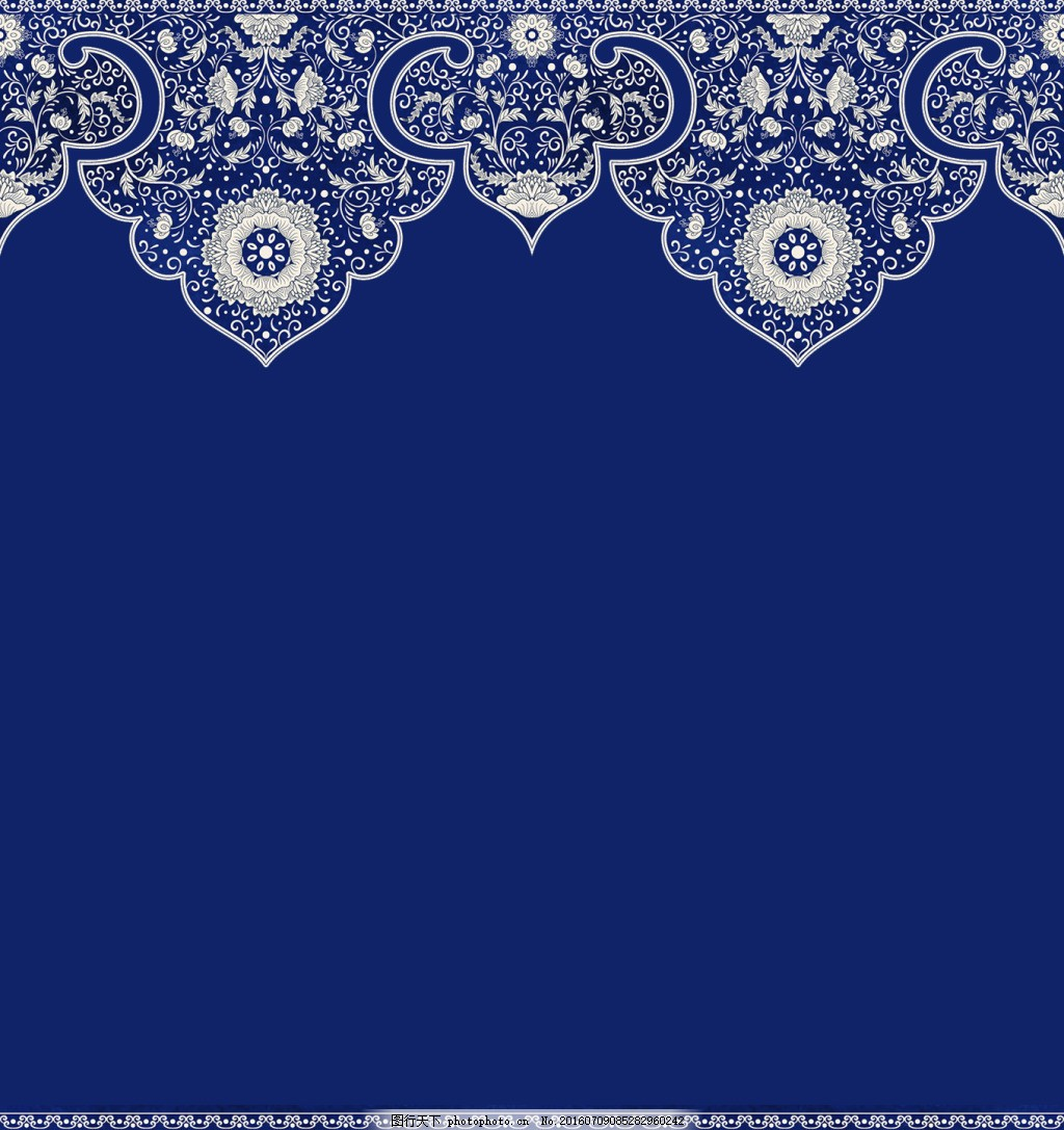 中国古典风底纹背景 中国风 边框 中秋 素雅 蓝色 名片素材 海报素材图片