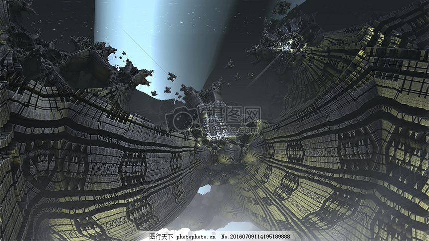 蓝光曼德尔球 曼德尔球 分形 科幻小说 蓝光 科技 游戏 网络 未来