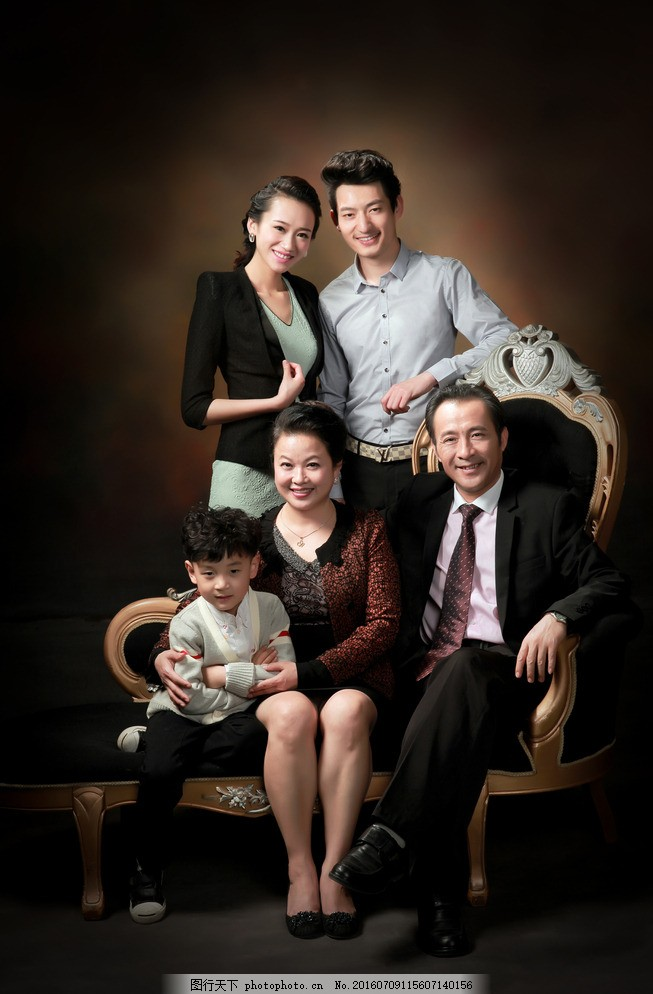 全家福影楼样片 韩版 最新 婚纱样片 摄影 人物图库 人物摄影