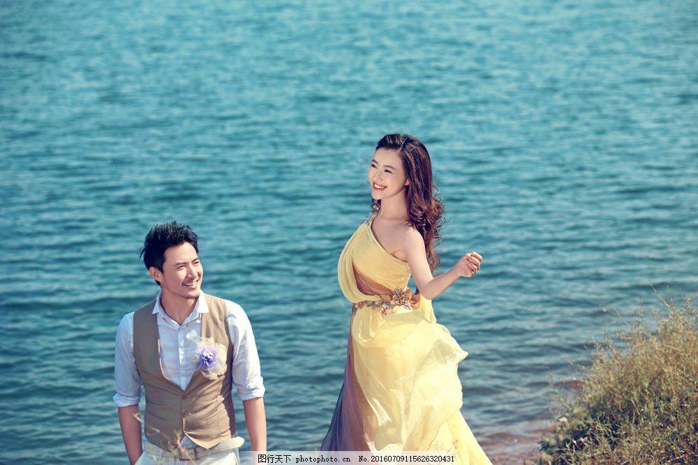 海边的情侣恋人图片素材 海边风景 唯美 婚纱照 婚纱摄影 浪漫 情侣