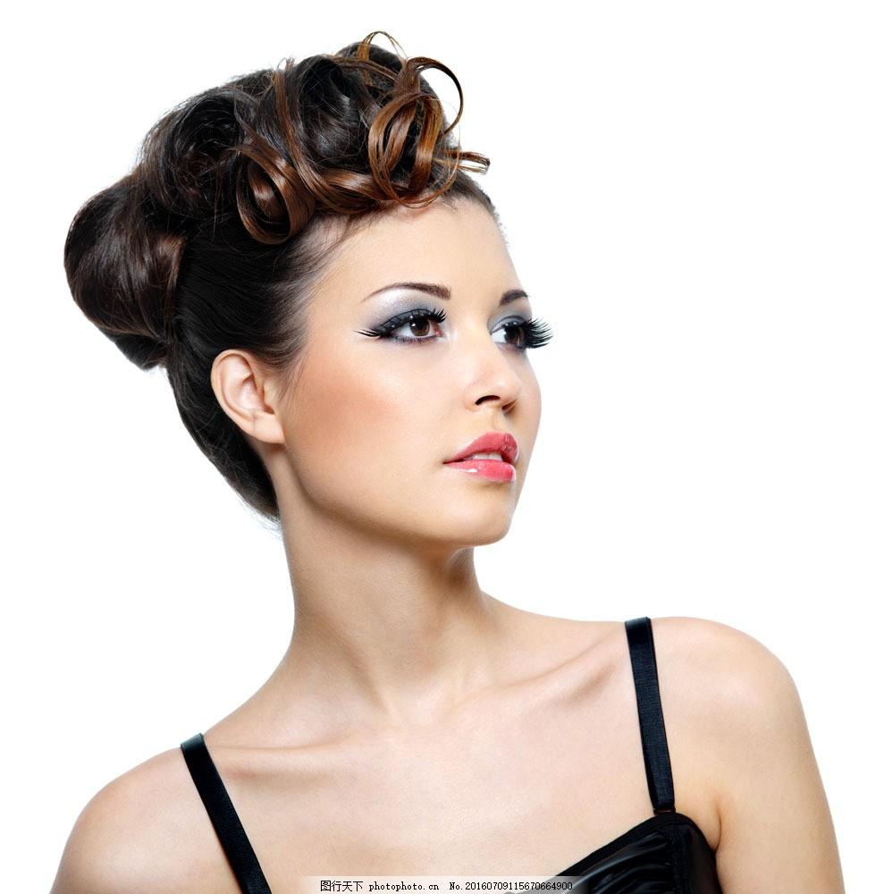 盘发美女图片,盘发美女图片素材 美发 发型 造型 新娘图片