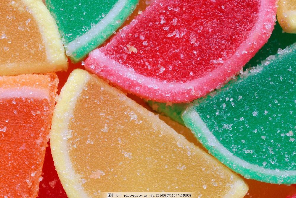 彩色软糖背景图片素材 软糖 糖果 甜品 甜食 美食 美味 美食图片 餐饮
