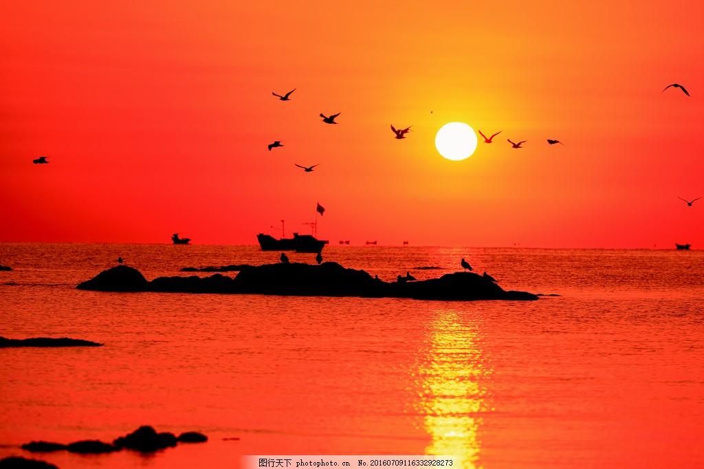 海上日出风景图片