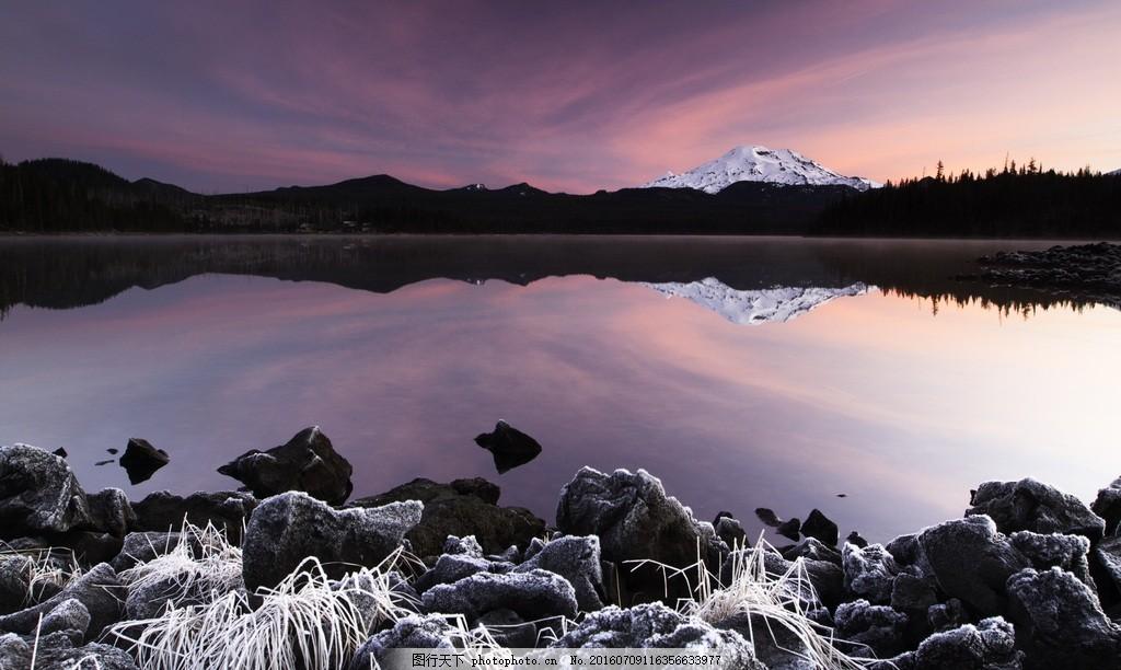 唯美雪山风景图片素材下载 山峦 天空 云彩 云层 多云