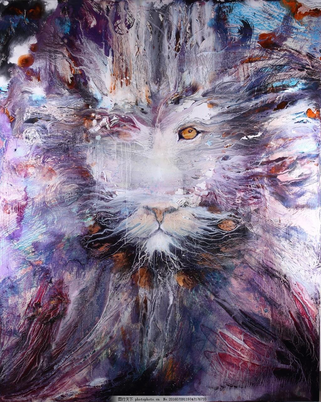 油画动物 油画 肌理 动物