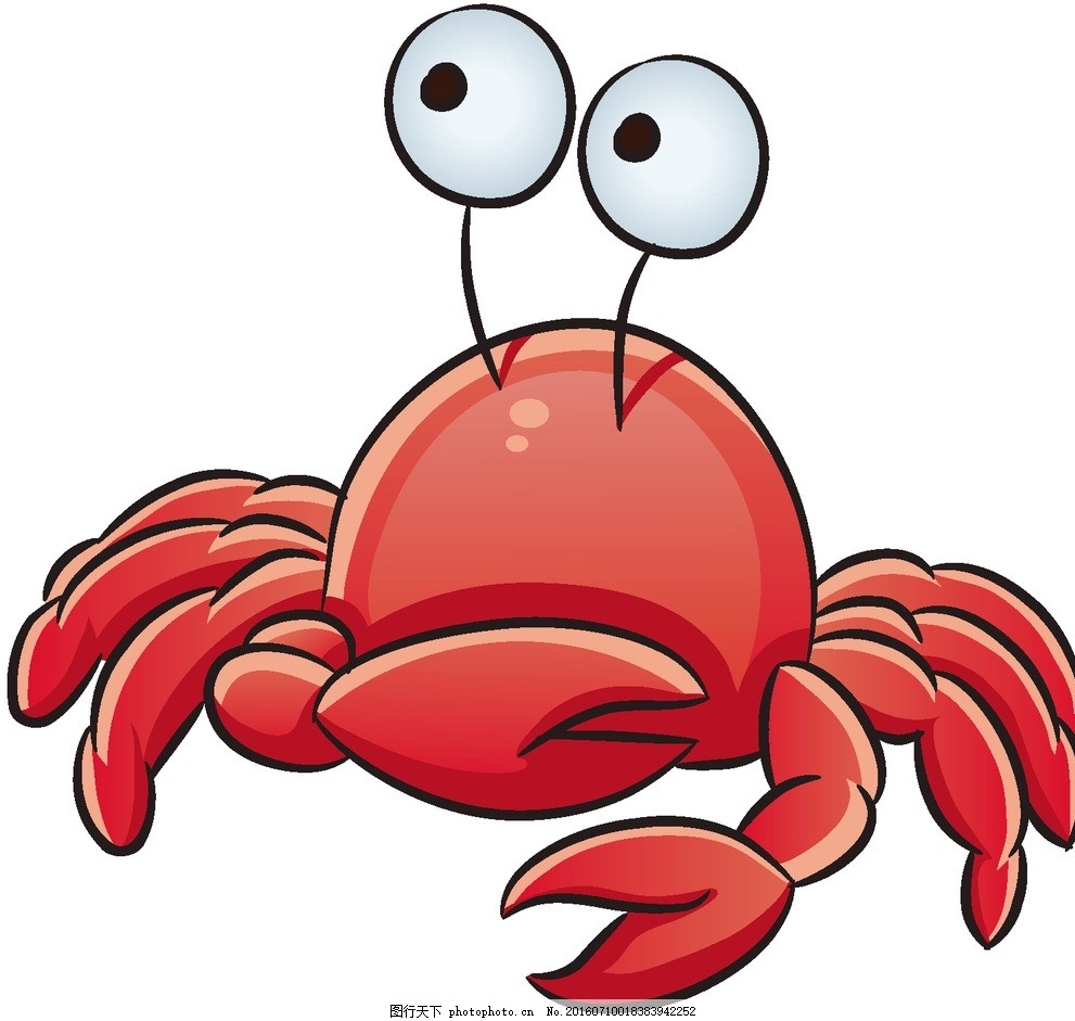 螃蟹 海洋 大海 动物 生物 鱼 卡通 可爱 宝宝 动漫动画