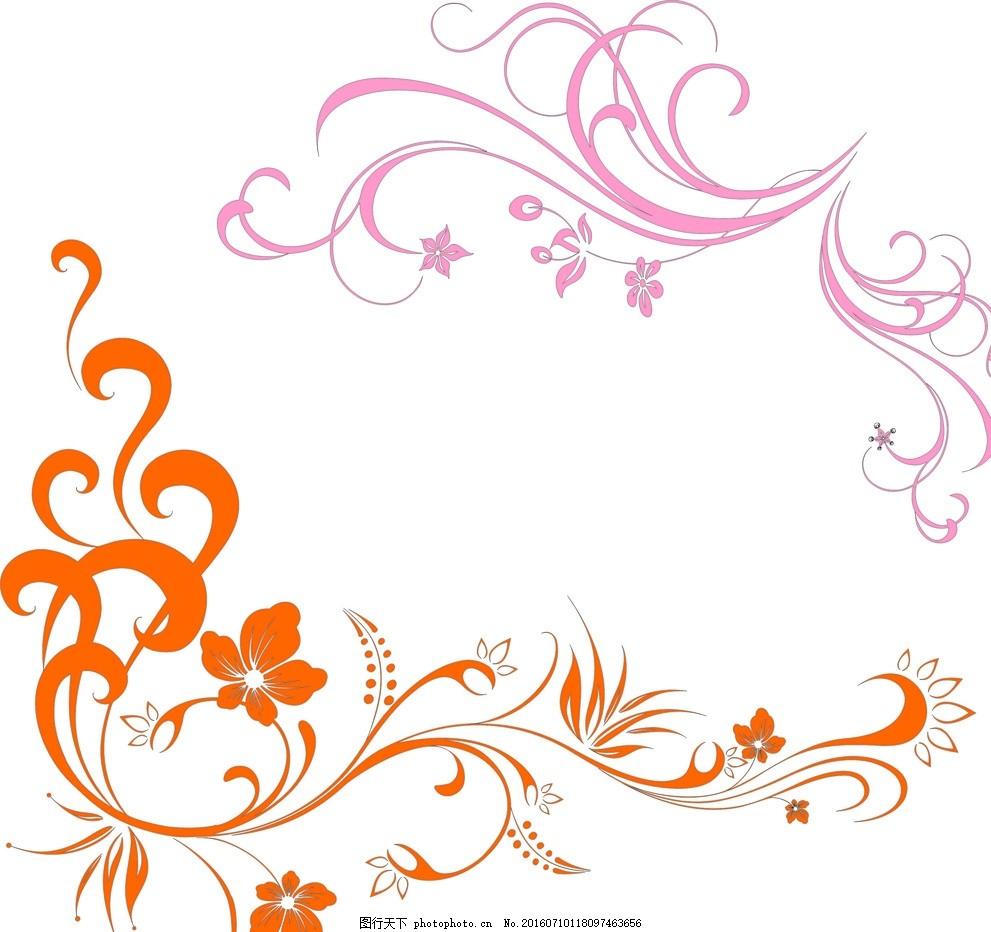 现代 展板 图纸 绘画 墙纸 底纹 诗画 花韵 设计 底纹边框 花边花纹