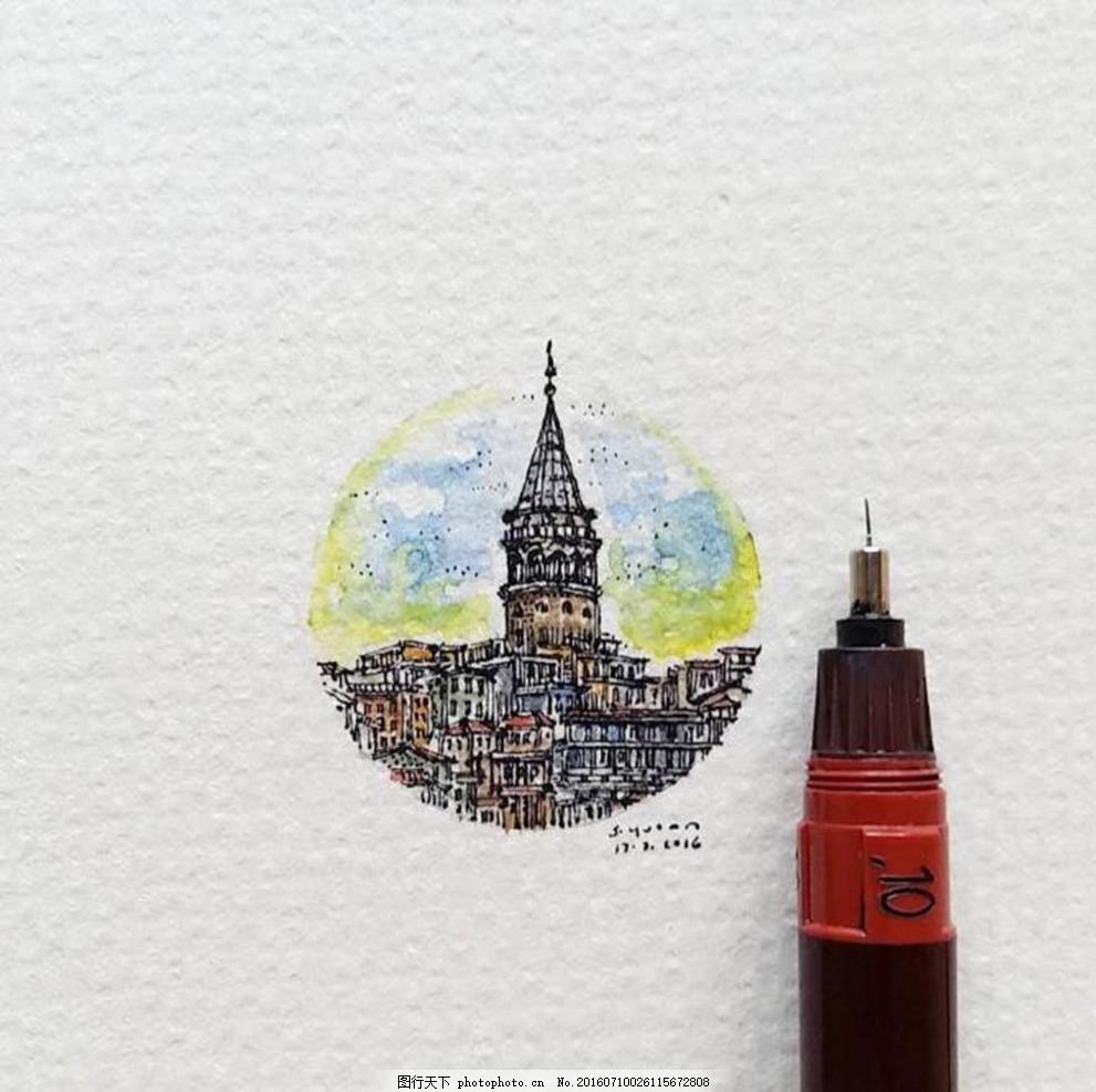 针管笔手绘 针管笔 手绘 小型 迷你 城市 摄影 生活百科 学习办公 72