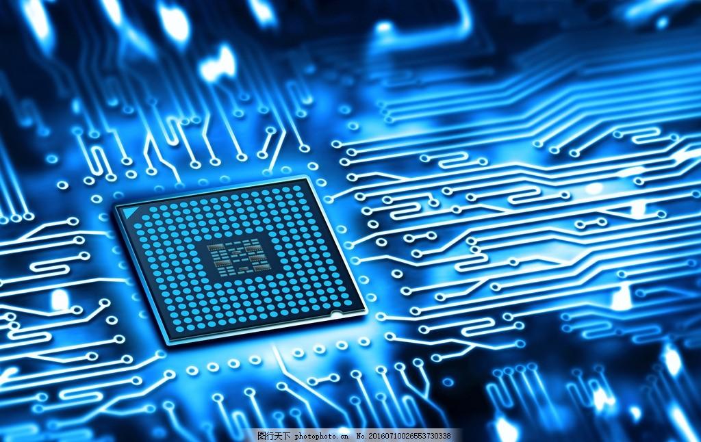 科技背景 唯美 炫酷 科技 背景 芯片 集成电路 设计 现代科技 科学