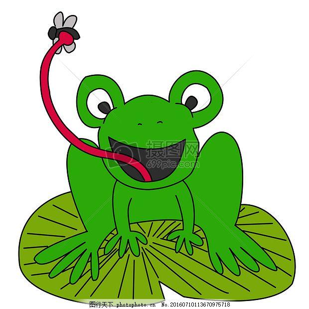 飞 青蛙 动物 自然 卡通 绿色卡通画 苍蝇 昆虫 卡通画 剪贴画 背景画