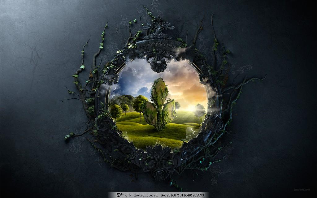 创意森林壁纸 创意森林壁纸高清图片素材下载 原创 灵感 墙壁
