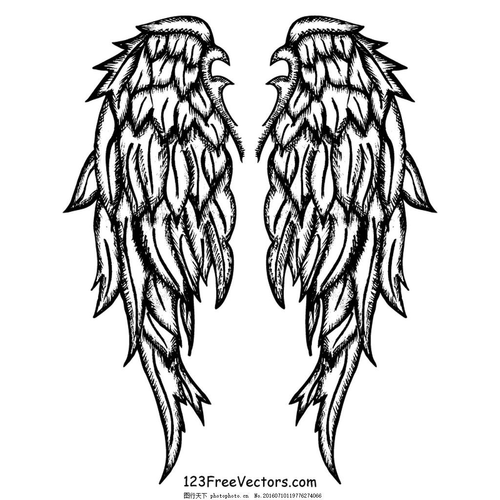 手绘天使翅膀