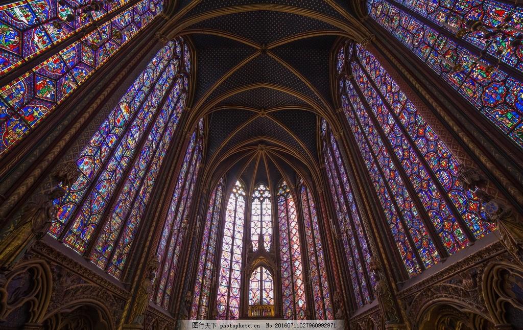 教堂 样式 花窗 欧式 摄影 高清 摄影 建筑园林 室内摄影 240dpi jpg