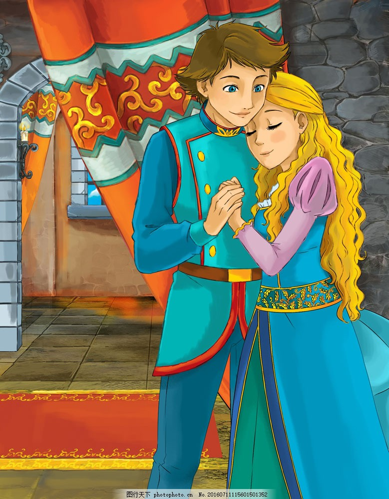 卡通公主和王子图片