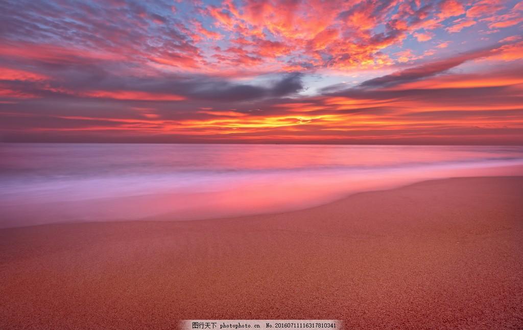 海边晚霞风景 海边晚霞风景高清图片下载 日落 落日 黄昏 夕阳