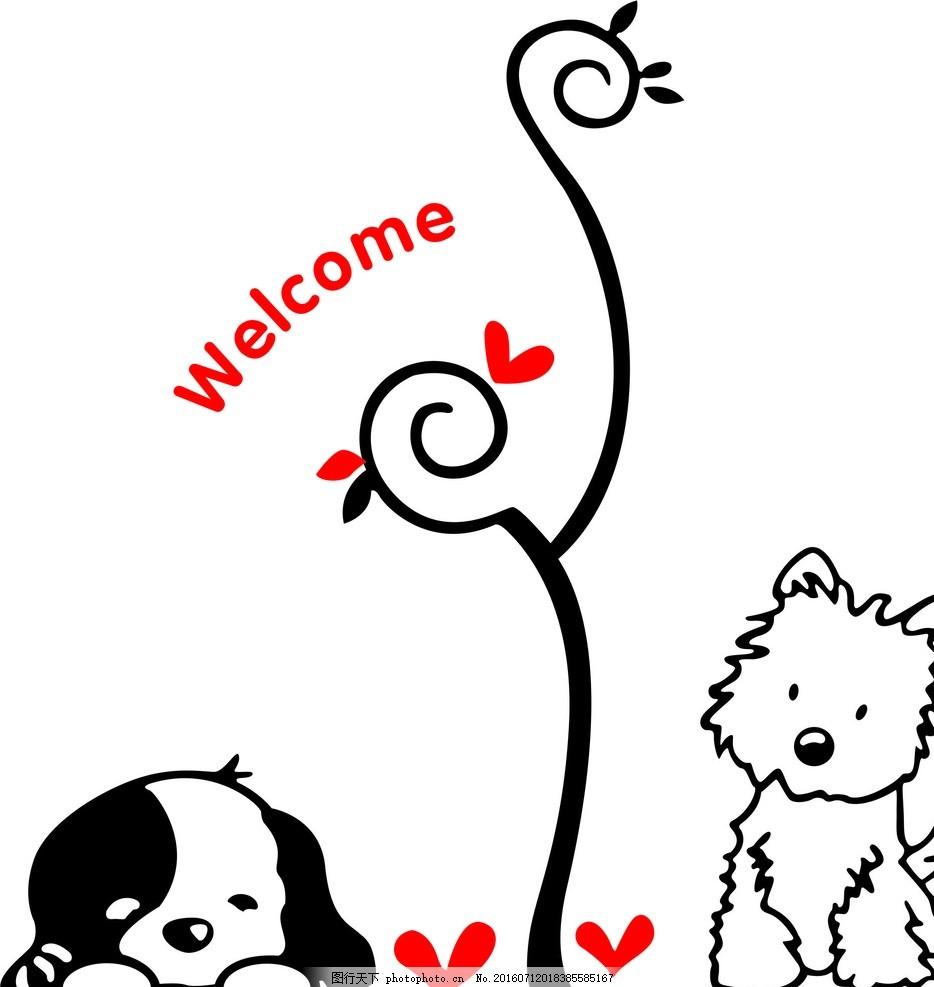 古典 展板 图纸 绘画 墙纸 底纹 小狗 小猫 设计 动漫动画 动漫人物