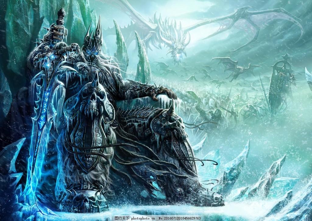 冰封王座 暴风 魔兽 背景 人 设计 动漫动画 风景漫画 209dpi jpg