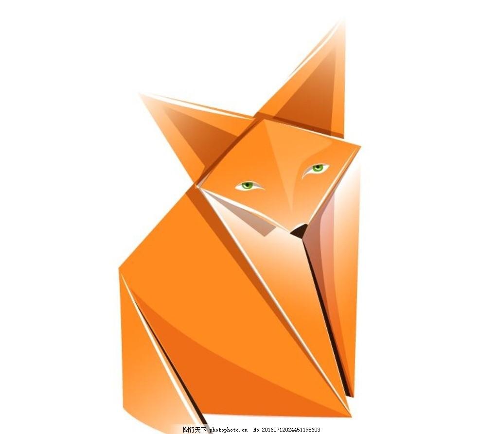可爱卡通动物折纸