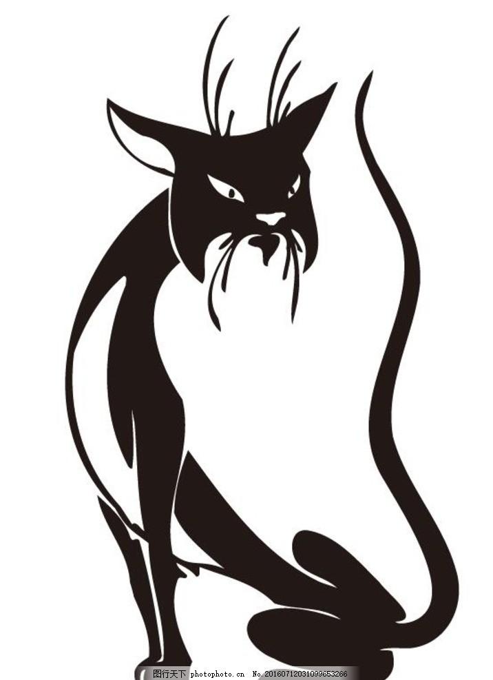 纹身 黑白动物设计 黑白线稿 动物标志 衣服印花 印花设计 底纹边框