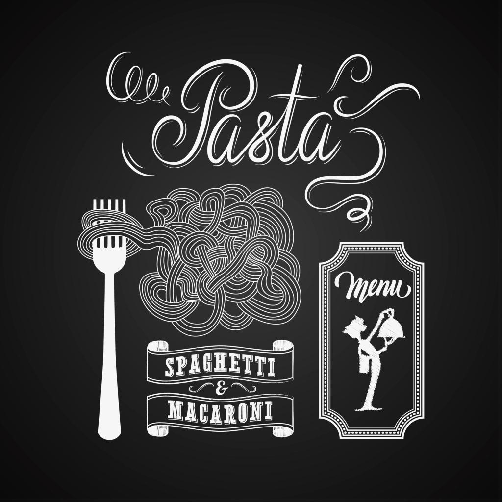 意大利面食谱 手绘 创意