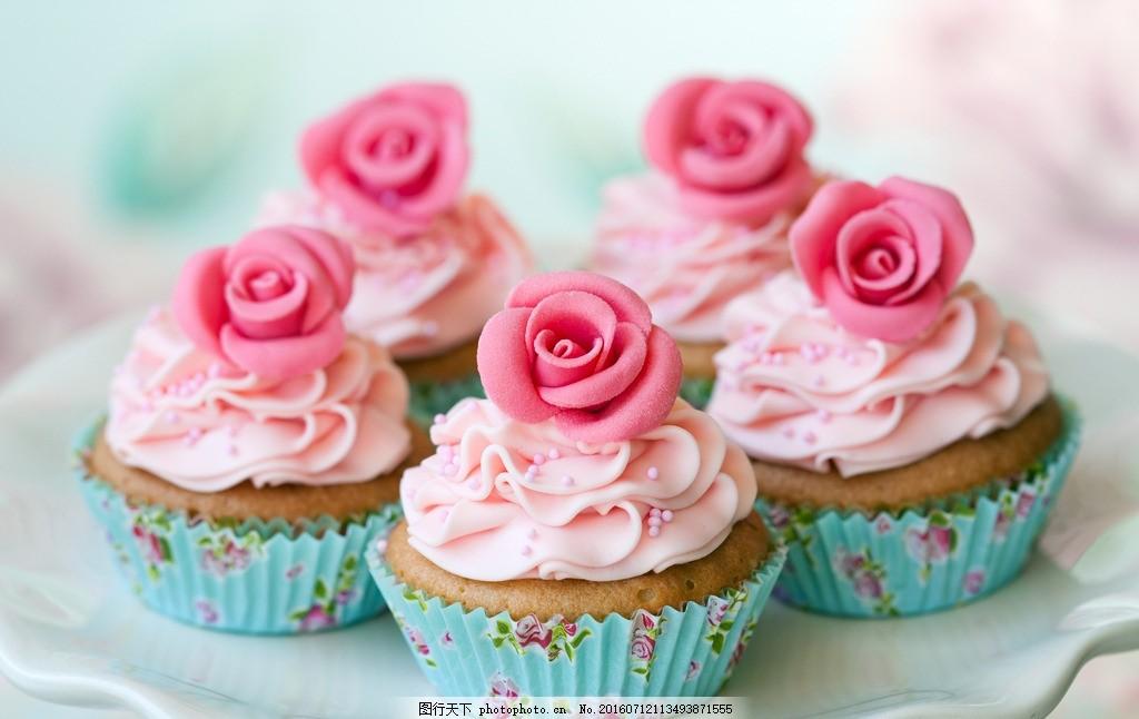 玫瑰冰淇淋 奶油冰淇淋 粉色冰淇淋 甜点 甜食 小点心 玫瑰花