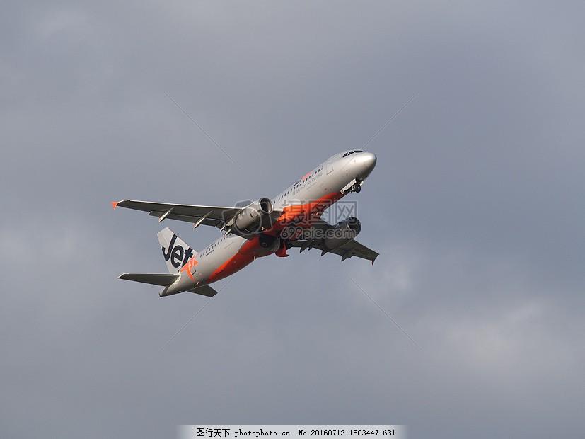 天空中的飞机 捷星 起飞 飞机 航空 阿德莱德 南澳大利亚 澳大利亚