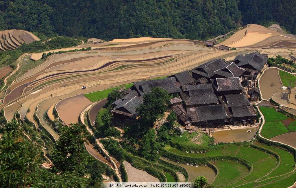 梯田风景图片