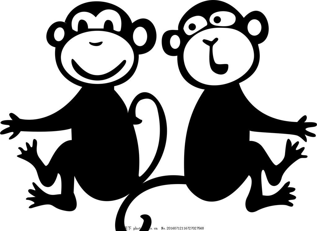 现代 展板 图纸 绘画 墙纸 底纹 动画人物 猴子 设计 底纹边框 背景