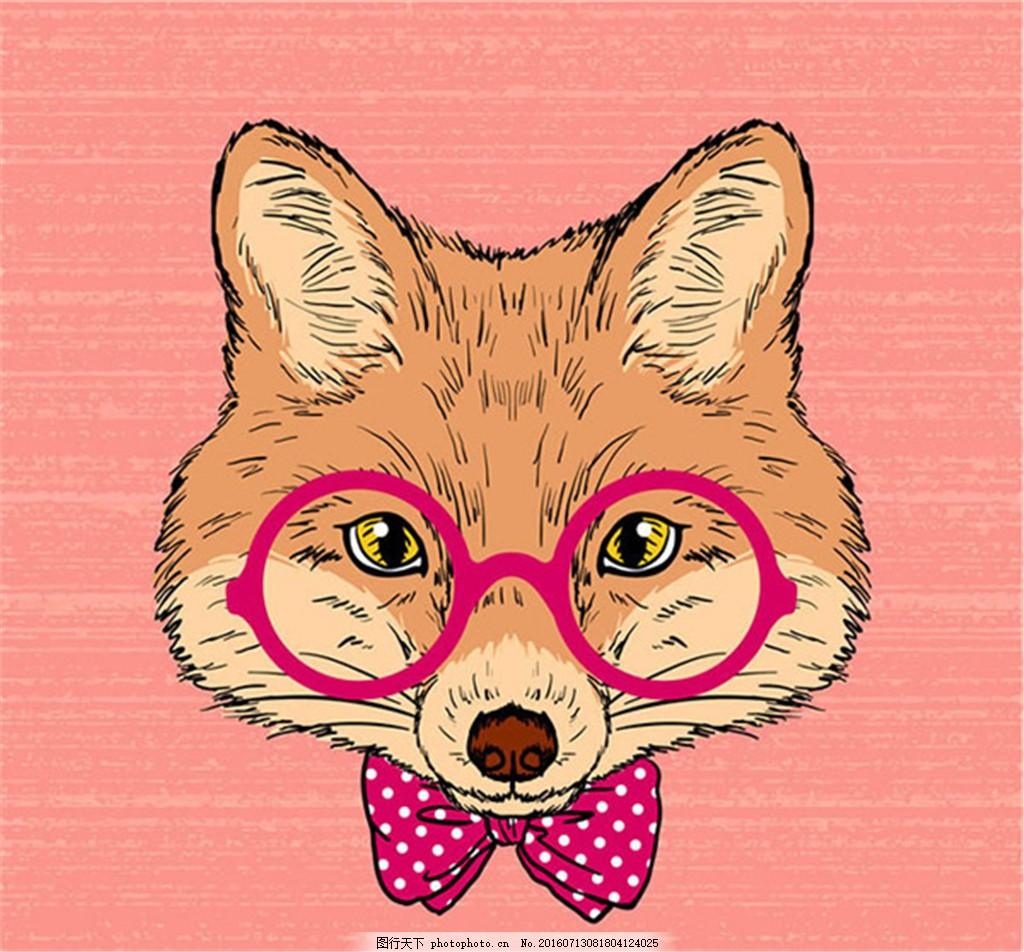 猴子 狐狸 卡通动物 设计 矢量 动物头像图标 鳄鱼 刺猬 河马 手绘