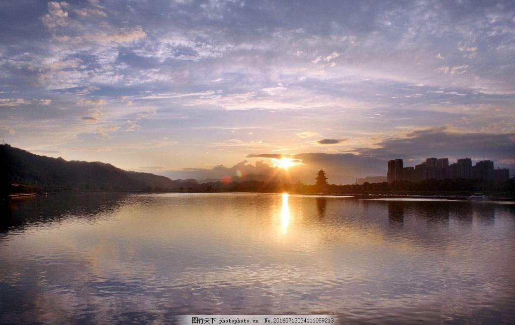 南明湖 夕阳美景 南明湖风光 湖上风景 丽水风光 风光摄影 人文世界