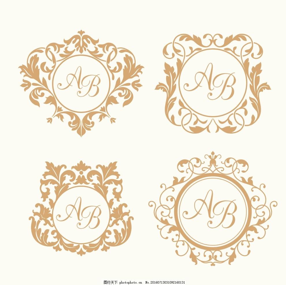 欧式 花纹 装饰 图标 矢量 边框 欧式花纹 花环 素材 设计 广告设计