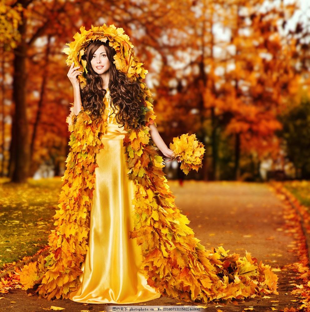 树叶婚纱贴画裙子