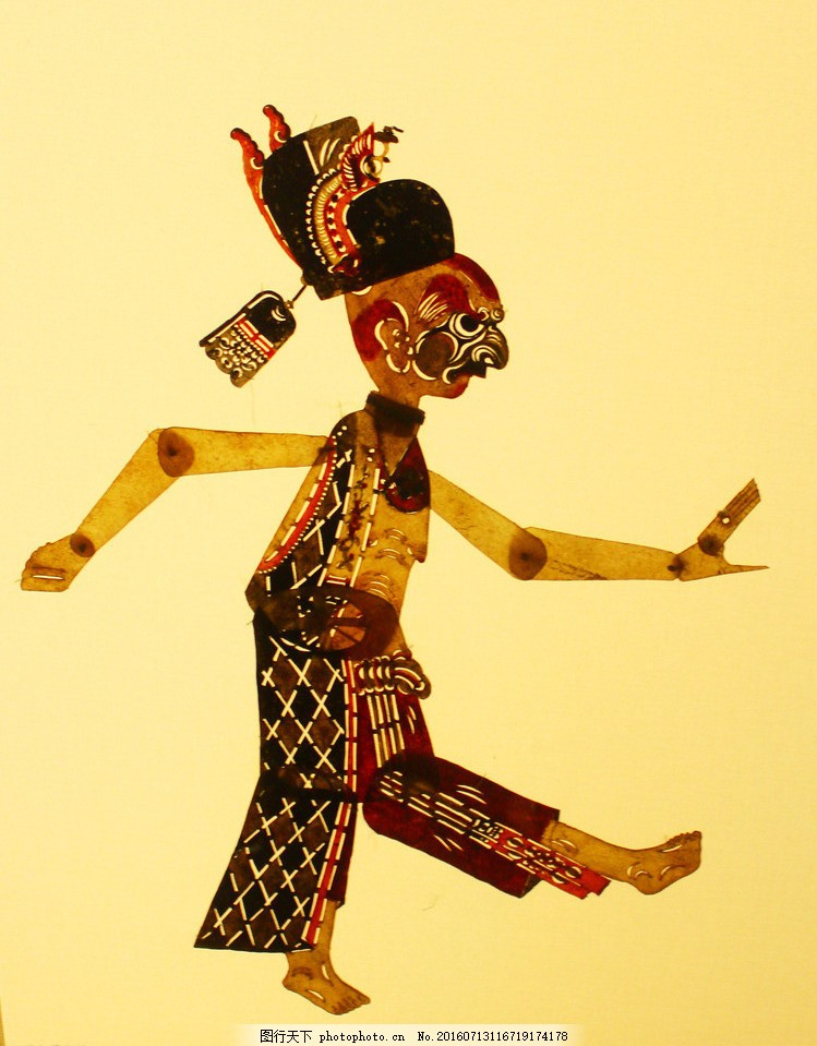 皮影人物形象 皮影 皮影戏 中国 传统文化 民间艺术 手工艺品 历史