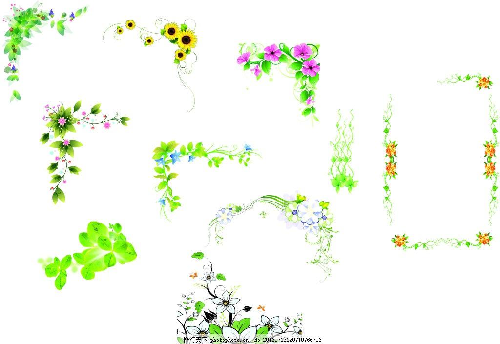 美丽 绿色 边框 花藤 绿叶 草 相框 照片 相册边框 花纹 素材 免费