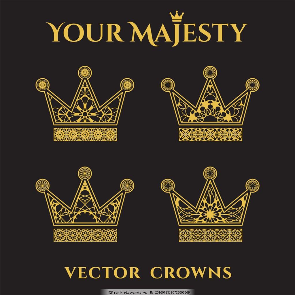欧式金色皇冠图片