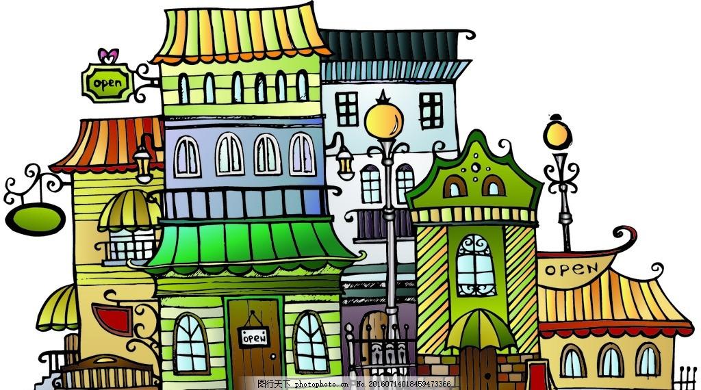 居民楼 住宅楼 住宅区 房子 屋子 设计 动漫动画 风景漫画 eps