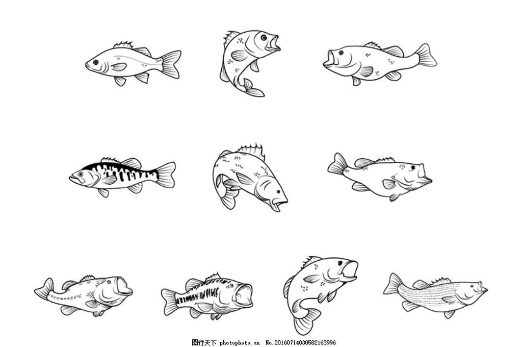 手绘鱼唯美图片