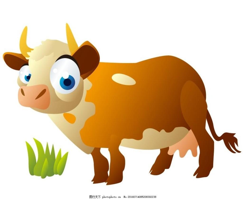 卡通牛 十二生肖 动漫 朝鲜 可爱 矢量素材 动物矢量 广告设计