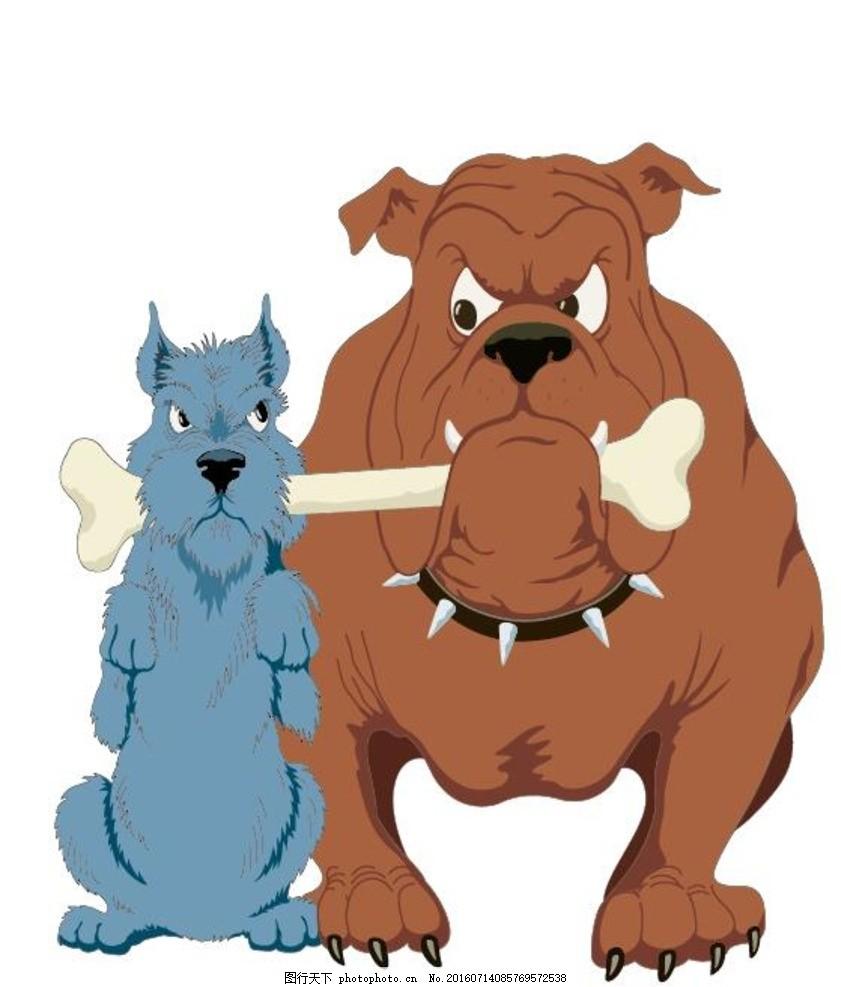 卡通狗 漫画狗 t恤图案 卡通动物 手绘 韩版卡通 动物图案 动物矢量