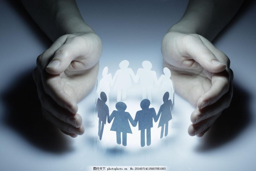 双手捧着小人图片素材 手 手势 双手 捧着 呵护 小人 团结 人体器官图
