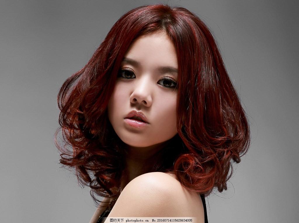 中短发梨花头 梨花头 烫发发型 女发 中发 发型 美女发型图片