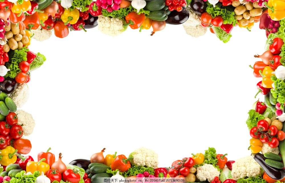 水果蔬菜边框图片素材 水果 蔬菜 边框 新鲜 食物 水果图片 餐饮美食