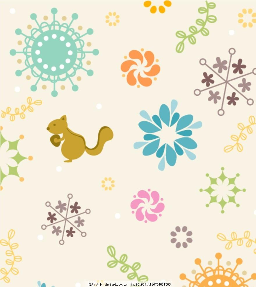 动物便签纸 小动物 可爱 简笔画 底纹边框 背景底纹