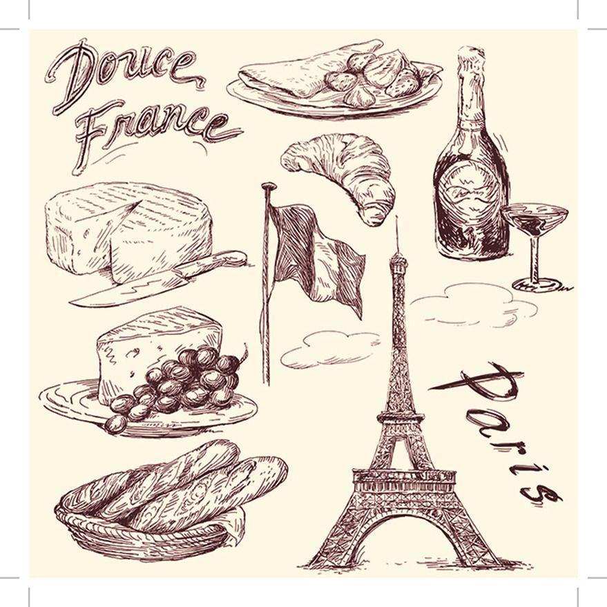 蛋糕素材 杯子 插画 刀叉 食物 矢量插画 手绘 手绘食物 手绘食物模板