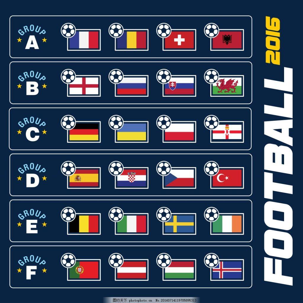 欧洲足球锦标赛2016组阶段,欧洲杯 国旗 小组赛
