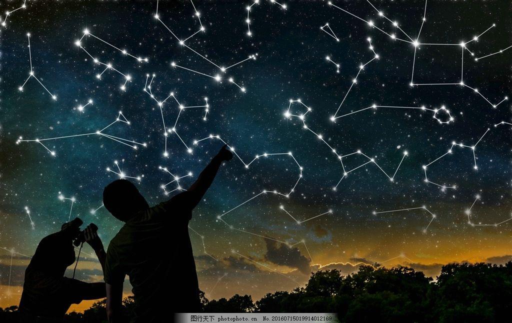 唯美星空星象景色 星云 美景 夜景 天空 星光 夜晚 摄影 自然景观