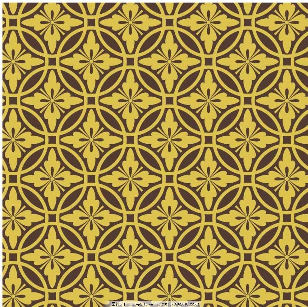 欧式花纹边框 布纹 花纹花边 平铺 花纹背景 金色花纹 古典花纹